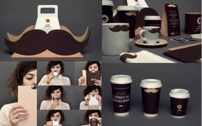 Design Trend: Moustaches in Branding