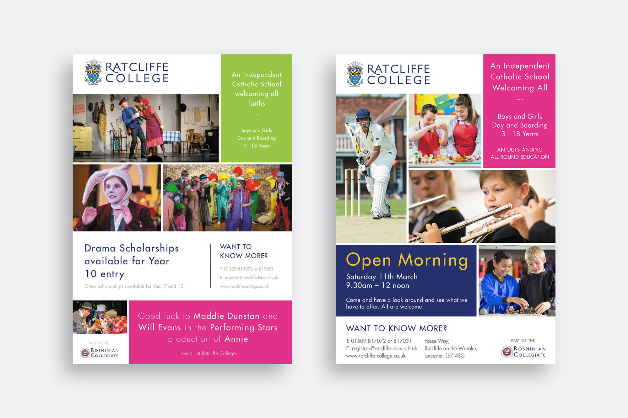 Ratcliffe College Advert Design
