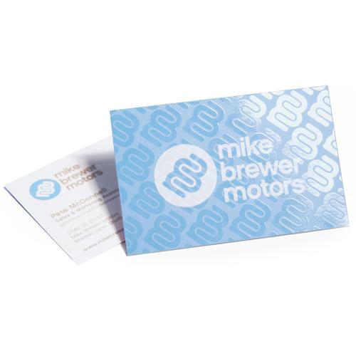 Spot uv varnish business card
